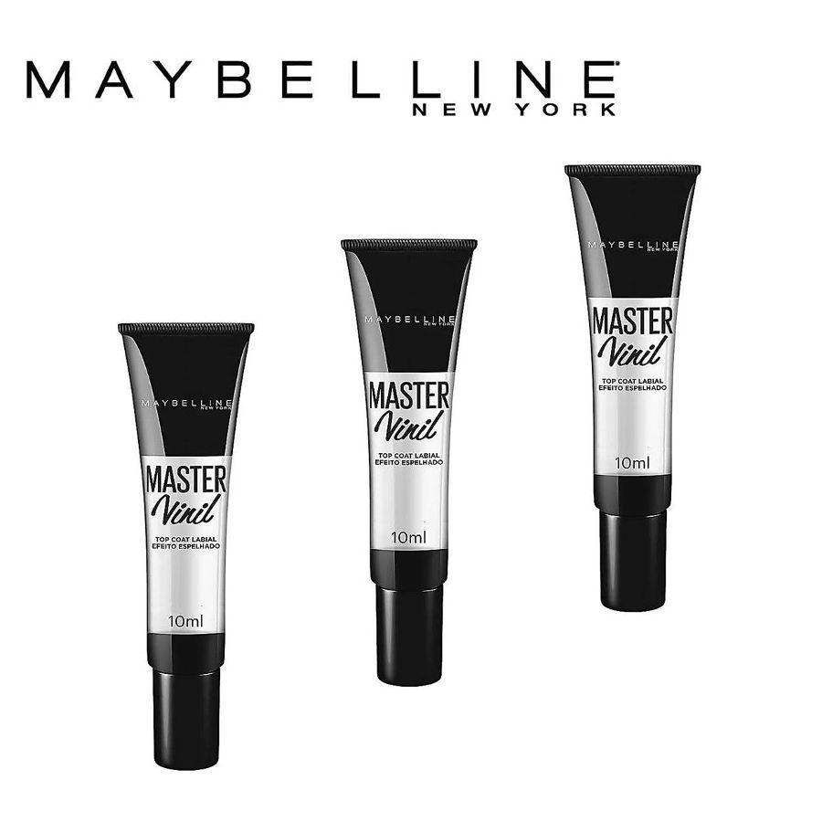 Como Gloss Maybelline Master Vinil Top Coat (3 Un) 10ml Cada