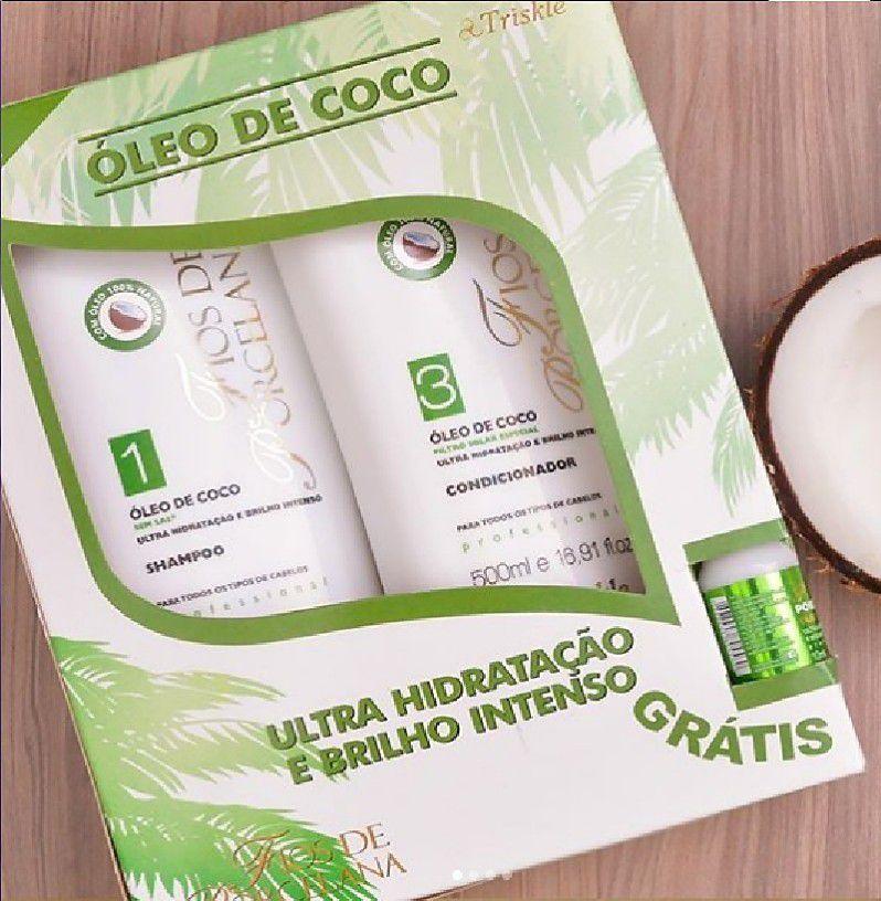 Kit Shampoo e Condicionador Óleo de Coco Triskle