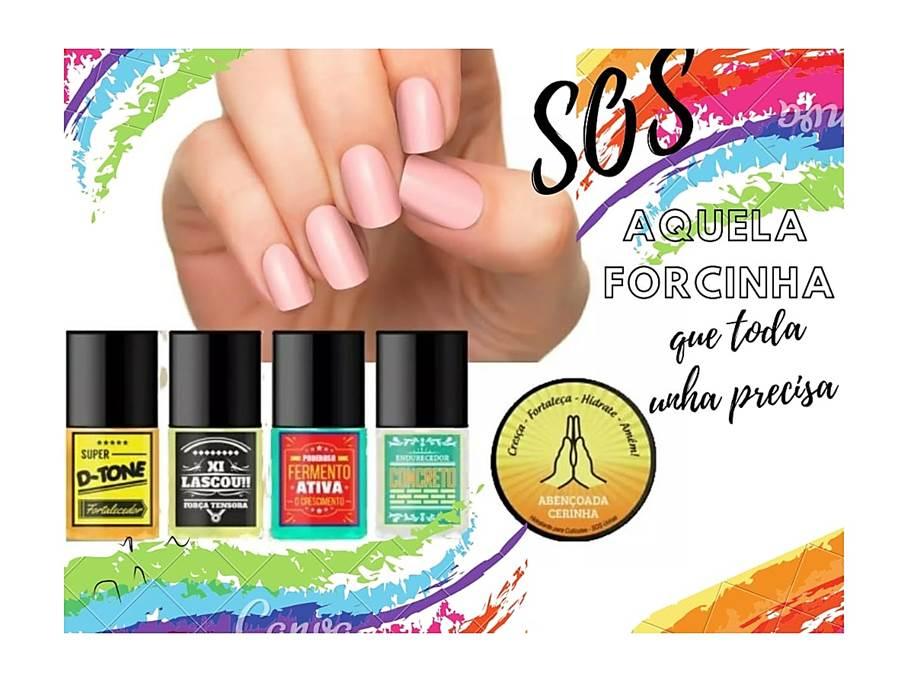 Kit SOS Unhas Top Beauty Para Tratamento das Unhas e Cutículas