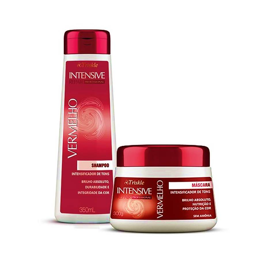 Kit Matizador Vermelho Shampoo + Máscara Triskle Intensive Repair
