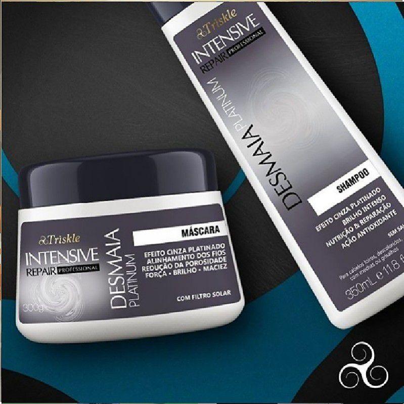 Kit Triskle Desmaia Platinum Shampoo + Máscara
