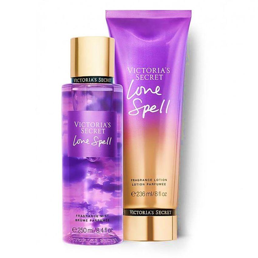 Kit Victoria's Secret Love Spell Creme Hidratante + Loção Body Splash
