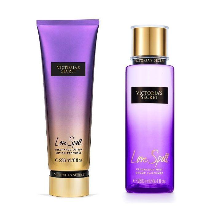 Kit Victoria's Secret Love Spell Hidratante 236ml + Body Splash 250ml
