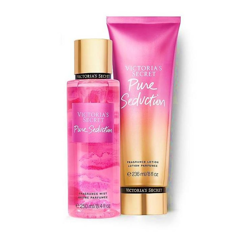 Kit Victoria's Secret Pure Seduction Hidratante + Loção Body Splash