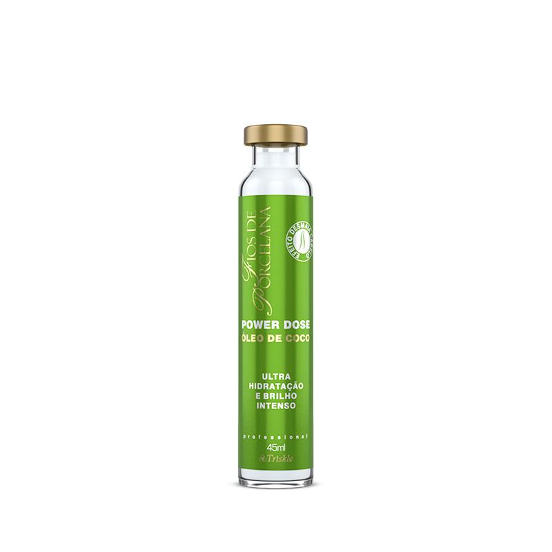 Kit Triskle Ultra Hidratação Óleo de Coco Fios de Porcelana (8 Itens)