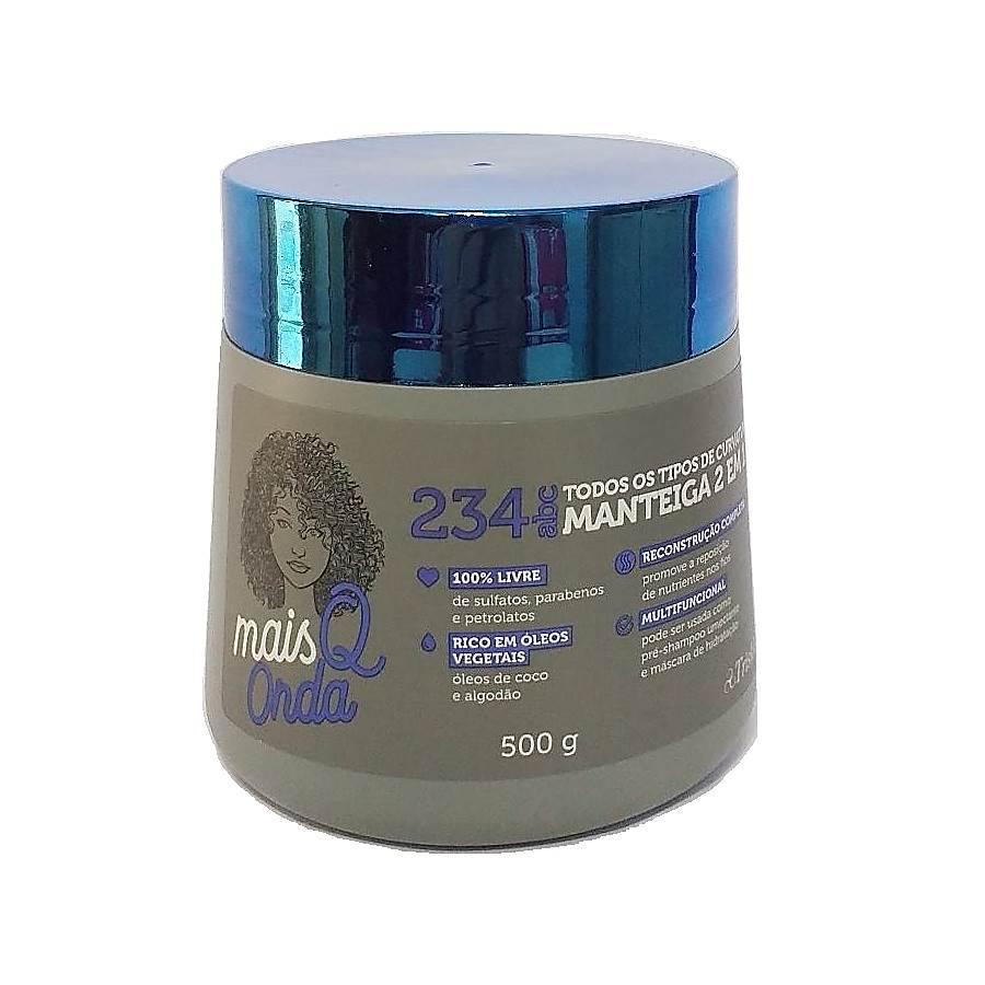 Manteiga de Hidratação 2 em 1 Multifuncional Mais Q Onda Triskle 500g
