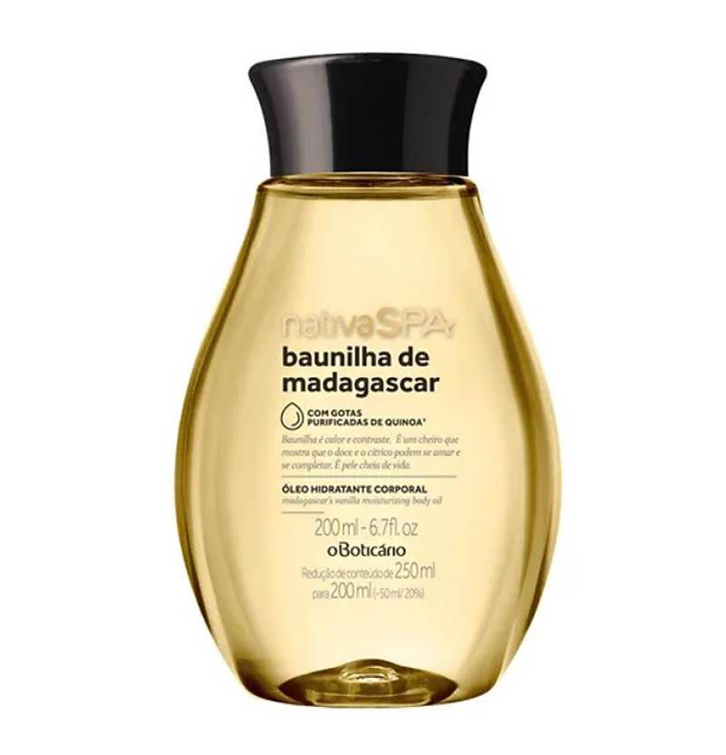 Óleo Corporal Baunilha de Madagascar Nativa SPA 200ml