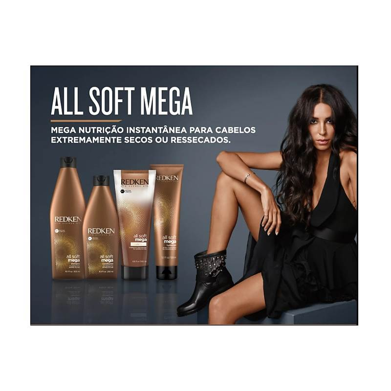 Shampoo All Soft Mega Redken - 1000ml