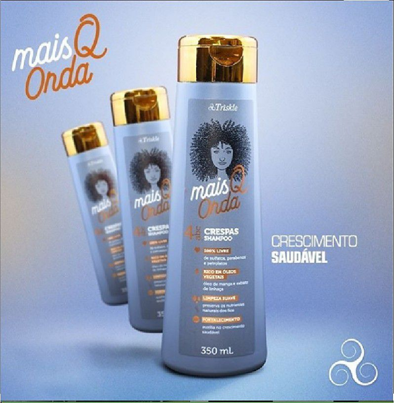 Shampoo Triskle Mais Q Onda Crespas 350ml