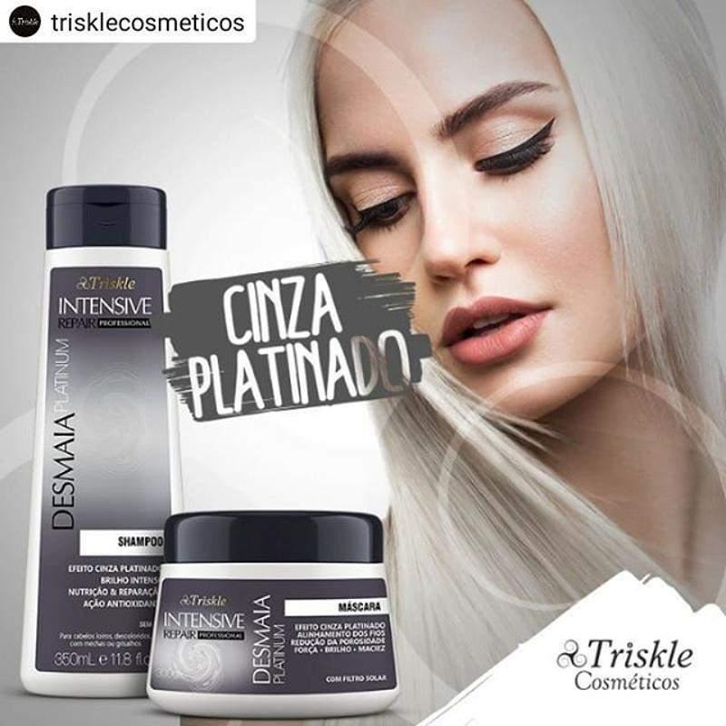 Shampoo Triskle Desliza Platinum 350ml