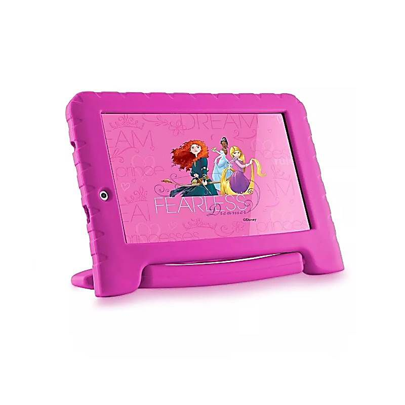 Tablet Disney Princesas Plus Wifi 8GB Dual Câmera Android 7 Rosa Multilaser