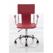 Cadeira Diretor PEL-6011V Em Couro PVC Vermelha - Pelegrin