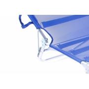 Cadeira Espreguiçadeira  Dobrável Com Regulagem Rosa Bel