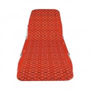 Cadeira Espreguiçadeira Dobrável Poliéster 5 posições  Mormaii - Vermelha