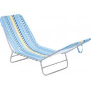 Cadeira Espreguiçadeira Dobrável Poliéster Estampada   Bel