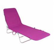Cadeira Espreguiçadeira Dobrável Poliéster Rosa -  Belfix