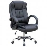 Cadeira Presidente Pelegrin Pel-2043 Couro Pu Preta