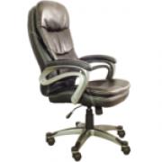 Cadeira Presidente Pelegrin Pel-9018H Couro Pu Marrom E Tabaco