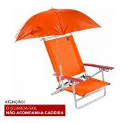 Guarda Sol Clamp Para Cadeira 50 Cm Laranja -Bel