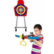 Kit Arco E Flecha Crossbow Mira De Led E Super Alvo