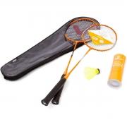 Kit Badminton Vollo 2 Raquetes + 3 Petecas Nylon