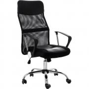 KIT com 8 Cadeiras Presidente Giratória em Tela Mesh PEL-8009 Preta