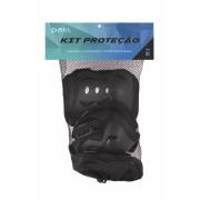 Kit de Proteção para Skateboard e Patins Tamanho Preto  P