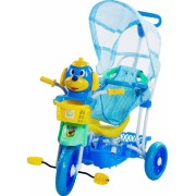 Triciclo Infantil Com Capota 3 Em 1 Cabeça De Cachorro - Azul