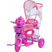 Triciclo Infantil Com Capota 3 Em 1 Cabeça De Cachorro - Rosa
