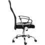 Cadeira Escritório Presidente Em Tela Mesh Pelegrin Pel-8009 Preta