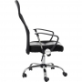 Kit com 10 Cadeiras Presidente Giratória em Tela Mesh PEL-8009 Preta