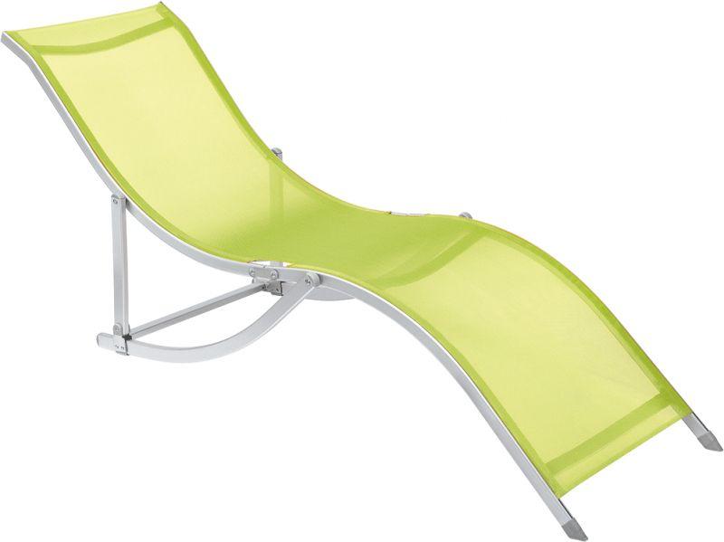 Cadeira Espreguiçadeira S Aluminio Textilene - Verde