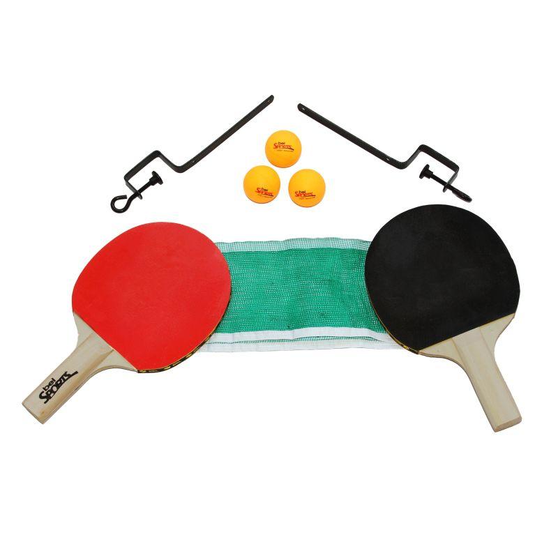 09aef5d2c Kit 2 Raquetes De Ping Pong ( Tenis De Mesa ) + Rede + Suporte + Bola -  SportBrink