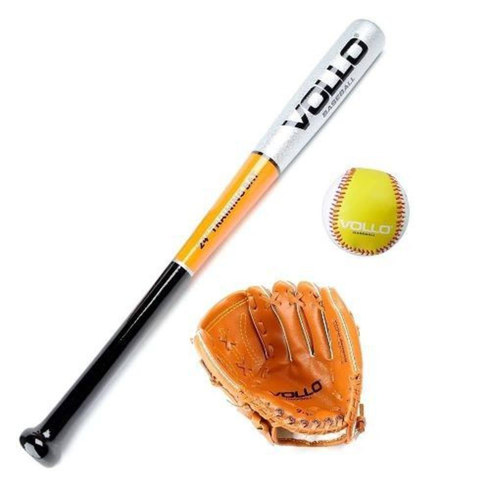 5fae7fcf3 Kit Beisebol Junior Vollo ( Taco De Madeira Tam. 24