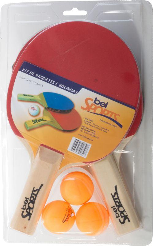 b30d65957 Kit Tenis De Mesa ( Ping Pong) Com Raquetes E Bola - SportBrink