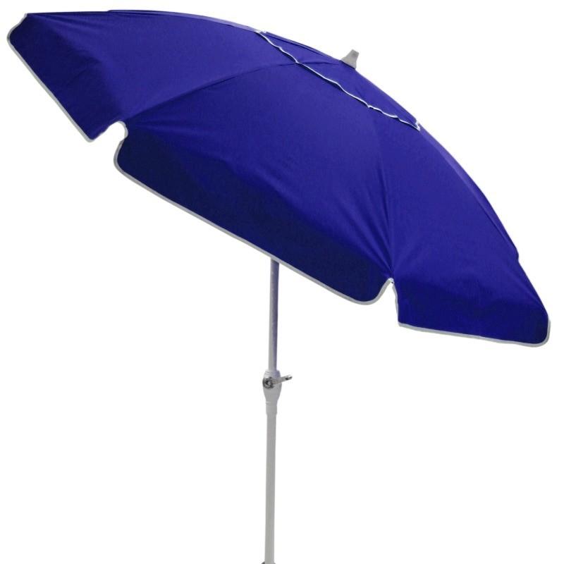 Ombrellone Bagum 2,50 Mt - Articulado Com Manivela - Azul
