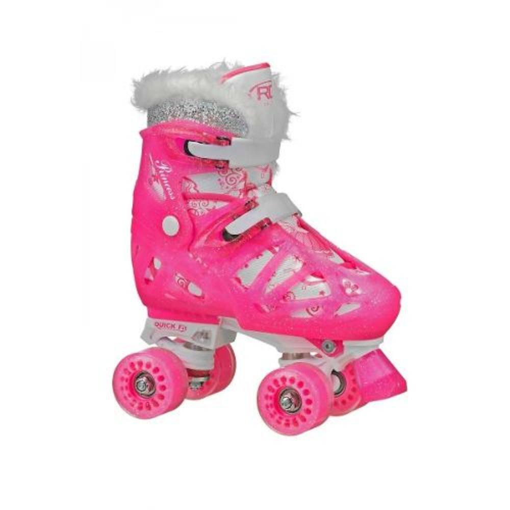 2b34d068e31 Patins Fila Infantil Ajustável Quad Roller Derby Princess - 32 Ao 36 -  SportBrink