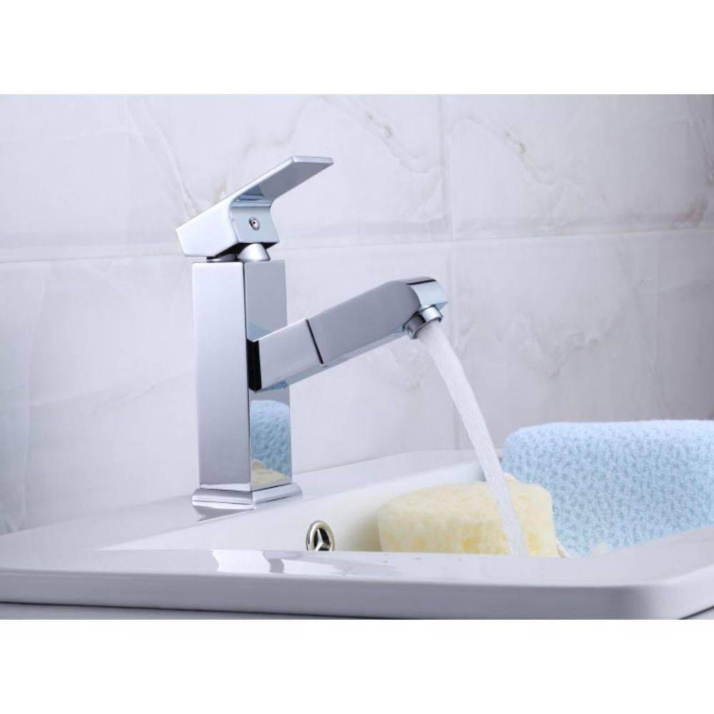 Torneira Retrátil Slim com Misturador Monocomando para Banheiro ou Lavabo Pelegrin P-042