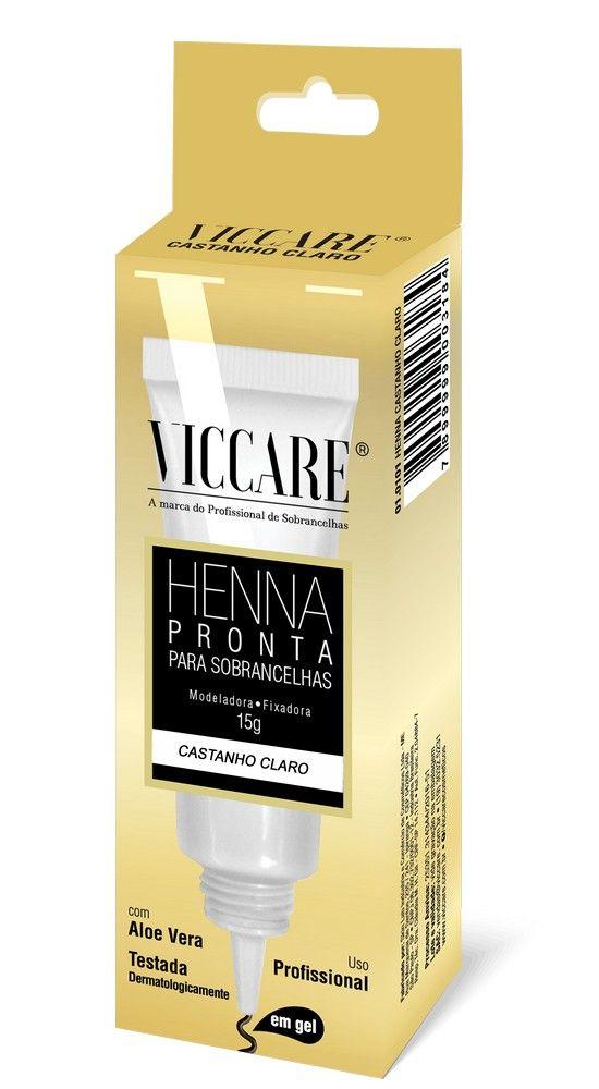 HENNA PRONTA EM GEL CASTANHO CLARO - VICCARE