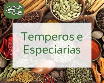 Seção de Temperos e Especiarias.