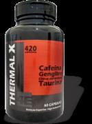 Termogênico Thermal X (Cafeina, Gengibre e Taurina) 60 Cápsulas 4 Elementos