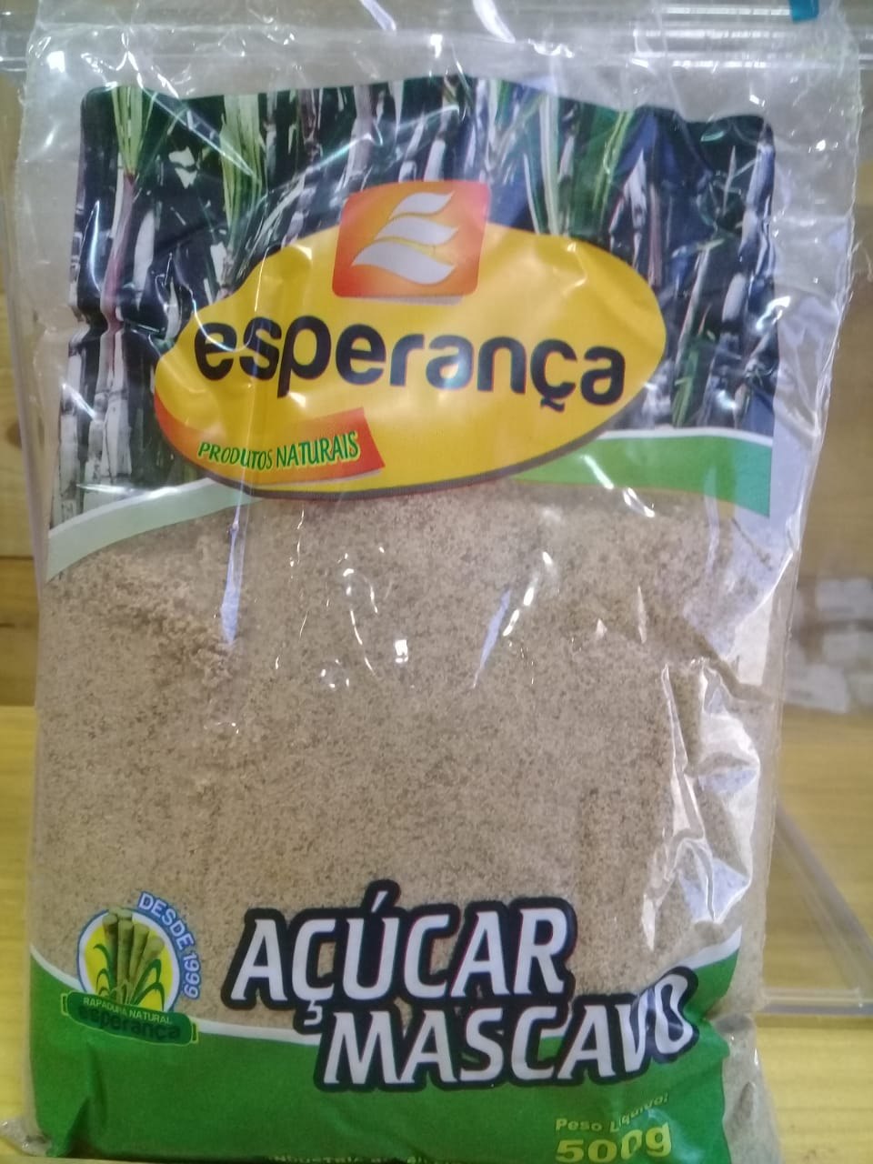 Açúcar Mascavo 500g- Esperança produtos Naturais