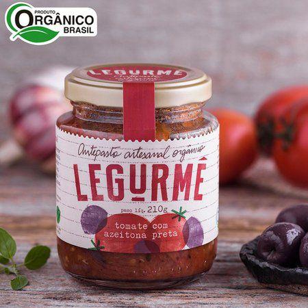 Antepasto Orgânico Tomate com Azeitona Preta 210g