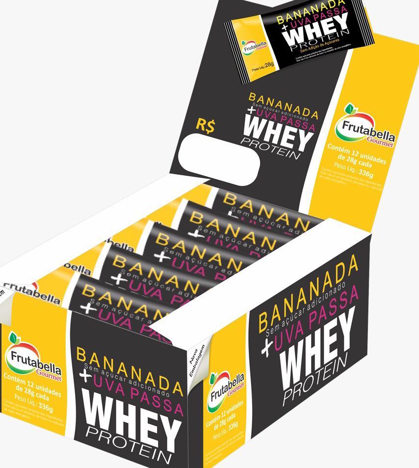 Bananada + Uva Passas  + Whey Protein 18% proteina