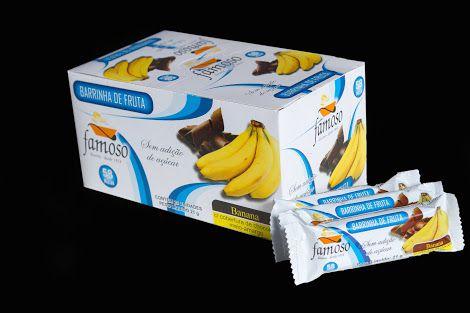 Barrinha de Fruta Banana com cobertura de Chocolate meio Amargo 21g