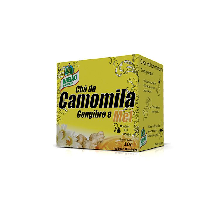 Chá Misto de Camomila Gengibre e Mel 10g