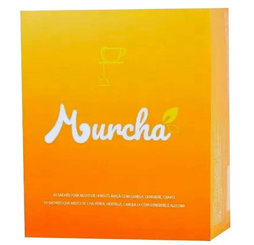 Chá Murcha Lovers - 60 Sachês (hibisco, maça c/ canela, gengibre, cravo, chá verde, hortelã, carqueja e alecrim)