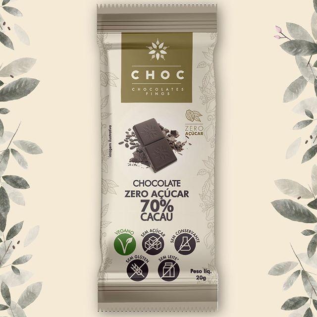 Chocolate CHOC 70% cacau ZERO AÇÚCAR 20g