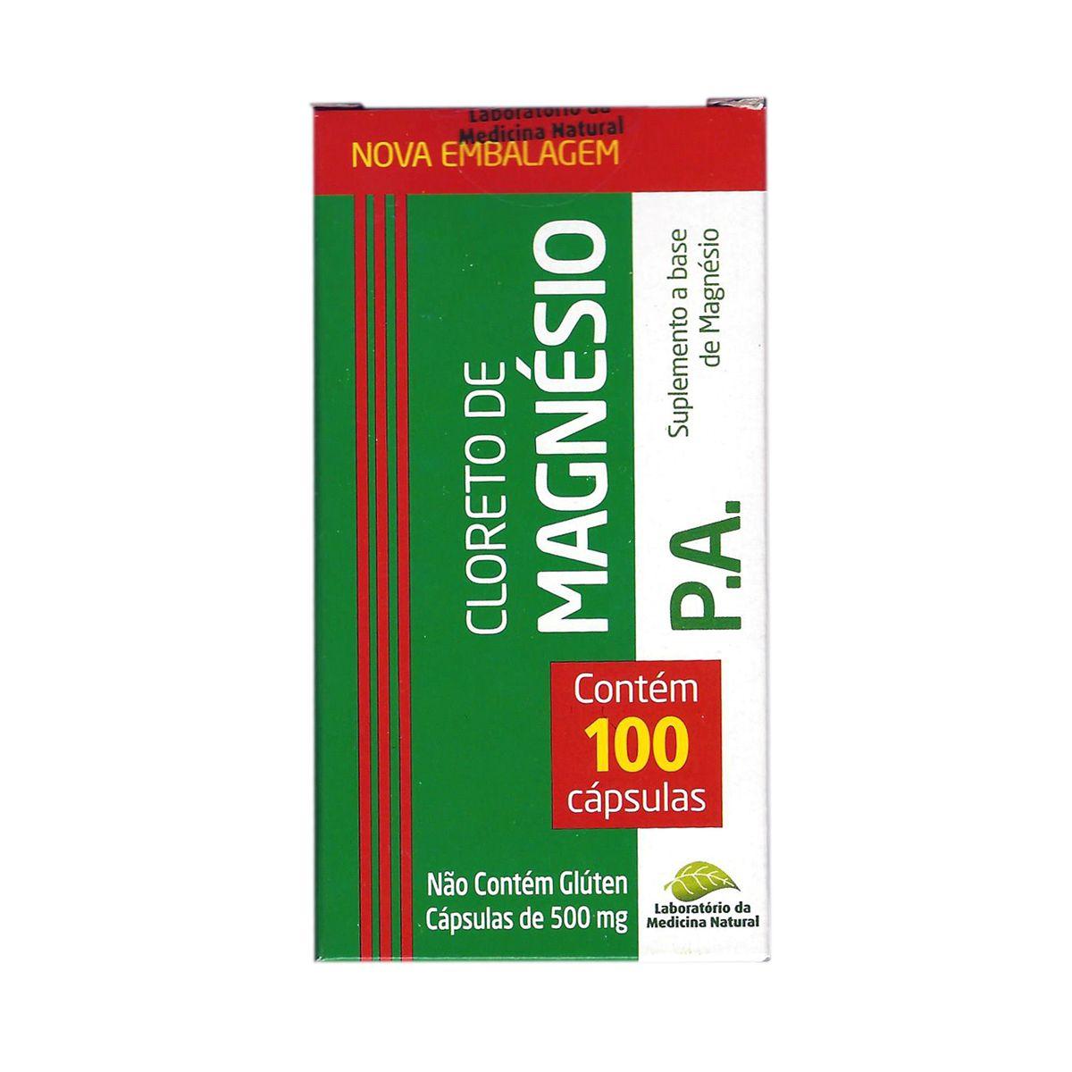 Cloreto de Magnésio 500mg - 100 cápsulas
