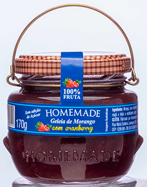 Geléia Homemade Morango c/ Cranberry 170g